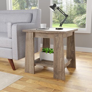 Furniture of America Ren Rustic Dark Taupe End Table