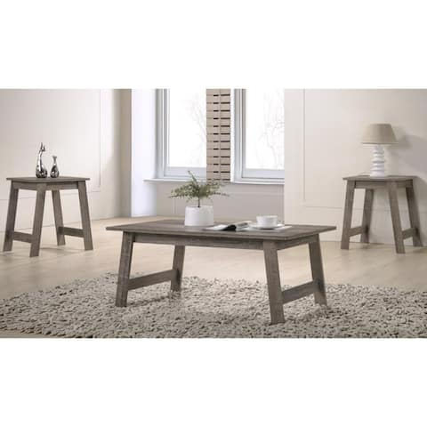 Furniture of America Kord Modern 3-piece Coffee and End Table Set