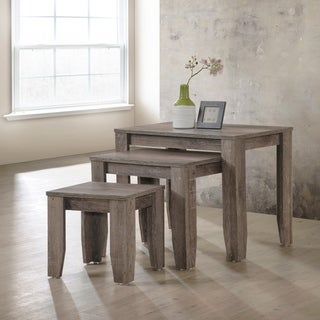 Furniture of America Diana Rustic Taupe 3-piece Nesting Table Set