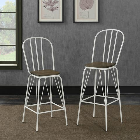Furniture of America Jack Modern Metal Slatted Counter Chairs (Set of 2)