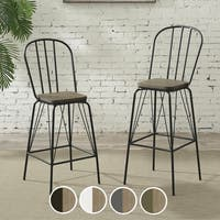 """Furniture of America Jack Modern Farmhouse Counter Height Chair (Set of 2) - W18-1/2""""21-1/2""""40""""H"""