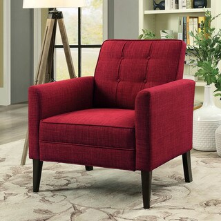 Furniture of America Hammond Mid-Century Modern Tufted Accent Chair