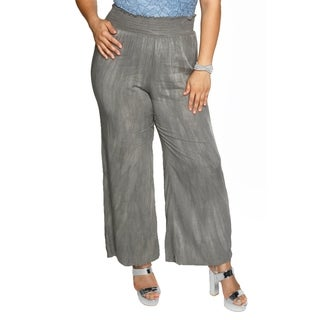 Xehar Womens Plus Size Casual Tie Dye Wide Leg Flare Pants (3 options available)