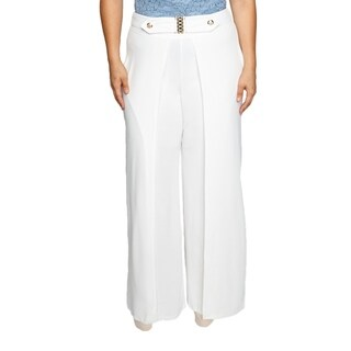 Xehar Womens Plus Size Flowy High Slit Layered Wide Leg Pants