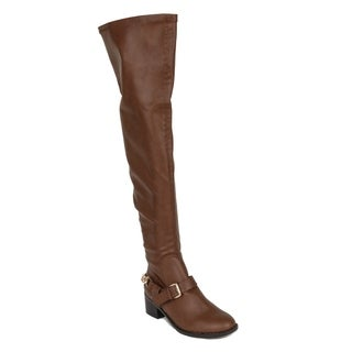 Xehar Womens Over The Knee Thigh High Buckle Riding Boots