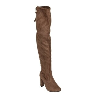Xehar Womens Faux Suede Over the Knee Lace Up Detail High Heel Boots (More options available)