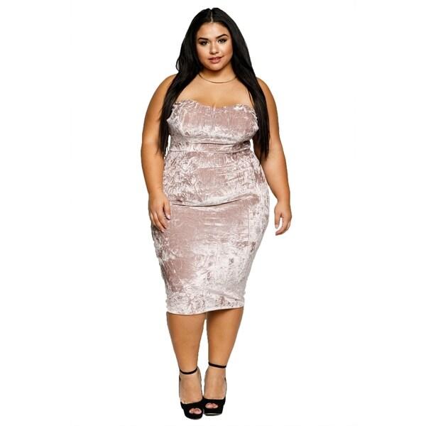 Women/'s Plus Size Black Floral Strapless Bodycon Dress 2XL NEW