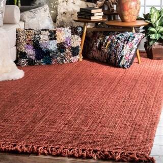 Havenside Home Caladesi Handmade Braided Natural Jute Reversible Area Rug - 7'6 x 9'6