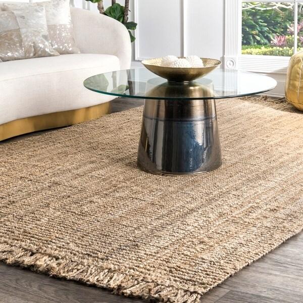 Havenside Home Caladesi Handmade Braided Natural Jute Reversible Area Rug (7' 6 x 9' 6) - 7'6 x 9'6