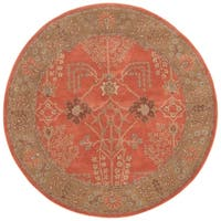 Maison Rouge Marion Handmade Floral Orange/ Brown area Rug - 10' x 10'