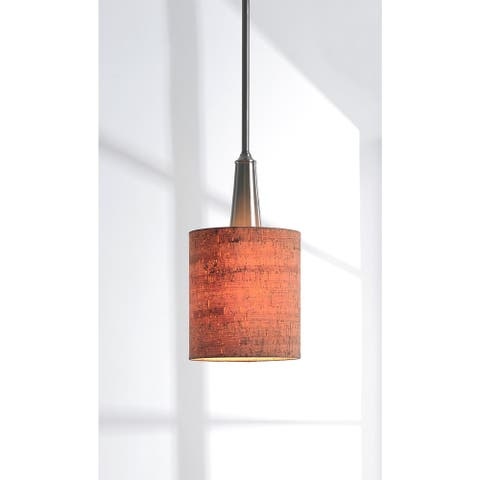 Strick & Bolton Laurindo Brushed Steel/ Cork Shade Mini Pendant