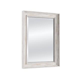 The Gray Barn Wilset Medium White Wash Wall Mirror, 21 x 25 - White Washed