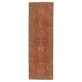 "The Curated Nomad Miramonte Handmade Floral Orange/ Brown area Rug - 2'6""x8' Runner - 2'6"" x 8' Runner"