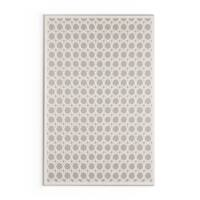 Carson Carrington Brekstad Trellis White/ Grey Area Rug - 5' x 7'6