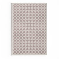 Maison Rouge Avery Trellis White/ Grey Area Rug - 2' x 3'
