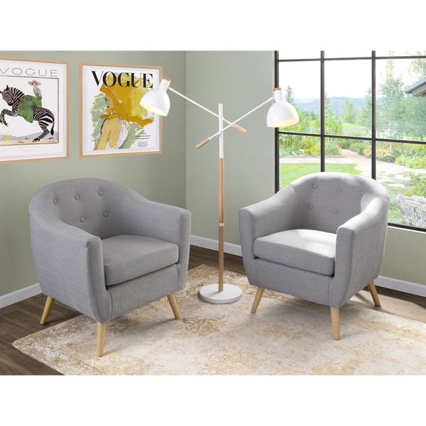 Strick & Bolton Shearing Mid-century Modern Accent Chair