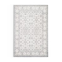 The Gray Barn Blueberry Butte Damask Grey/ Silver area Rug - 2' x 3'