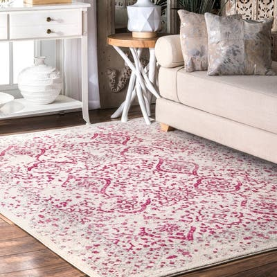 Pink Stain Resistant Area Rugs