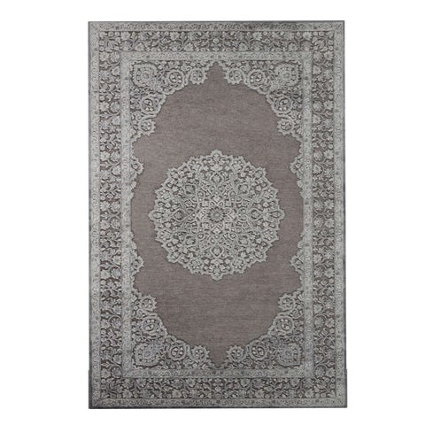 "Copper Grove Larcom Medallion Grey/ Silver area Rug - 7'6""x9'6"""