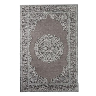 Maison Rouge Hughes Medallion Grey/ Silver Area Rug - 7'6 x 9'6