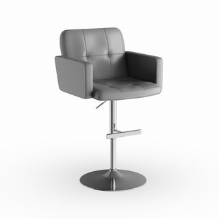 Strick & Bolton Lambert Contemporary Grey Adjustable Swivel Barstool
