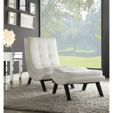 Strick & Bolton Ornette Lounge Chair and Ottoman Set