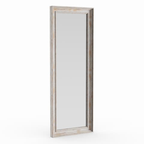 The Gray Barn Autumn Avenue Full Length White Wash Door Mirror, 19 x 53 - White Washed - 53.12 x 19.12 x 1.971 inches deep