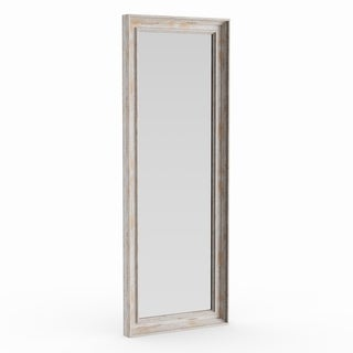 The Gray Barn Autumn Avenue Full Length White Wash Door Mirror - White Washed - 53.12 x 19.12 x 1.971 inches deep