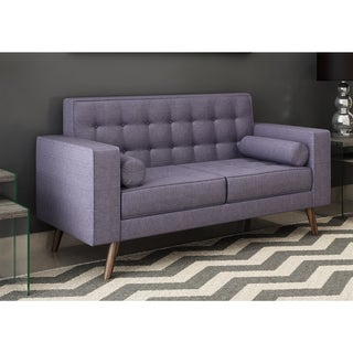 Link to Carson Carrington Rodekro Mid-century Style Fabric Loveseat Similar Items in Living Room Furniture