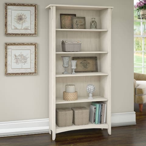 The Gray Barn Lowbridge 5-shelf Bookcase in Antique White