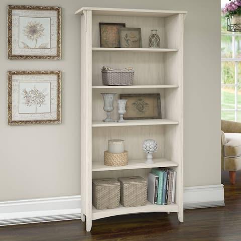 "The Gray Barn Lowbridge 5-shelf Bookcase in Antique White - 31.73""L x 12.17""W x 62.95""H"