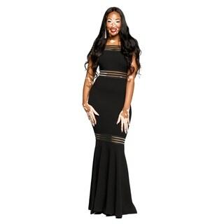 Xehar Womens Sexy Off Shoulder Peplum Long Evening Party Dress