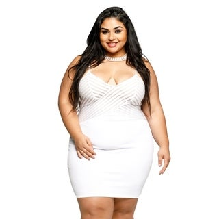Xehar Womens Plus Size Sexy Sleeveless Mini Short Bodycon Party Dress