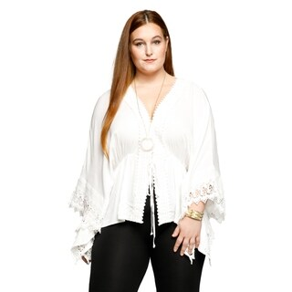 Xehar Womens Plus Size Short Sleeve Wrap Crochet Kimono Cardigan