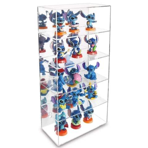 Acrylic 5 Shelves Mirror Backed Eyewear Display Collection Case