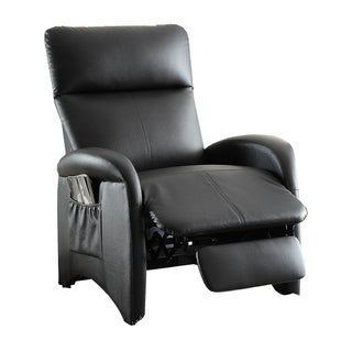 Modish Recliner With High Back and Side Pocket In Black