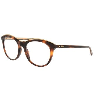 Dior Round Montaigne 41 C9C Women Havana Crystal Frame Eyeglasses