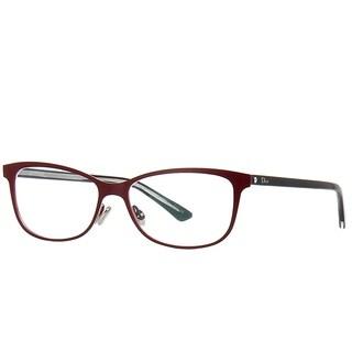 Dior Rectangle Montaigne 31 SF2 Women Matte Burgundy Black Frame Eyeglasses