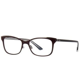Dior Rectangle Montaigne 14 MVZ Women Burnt Black Crystal Frame Eyeglasses