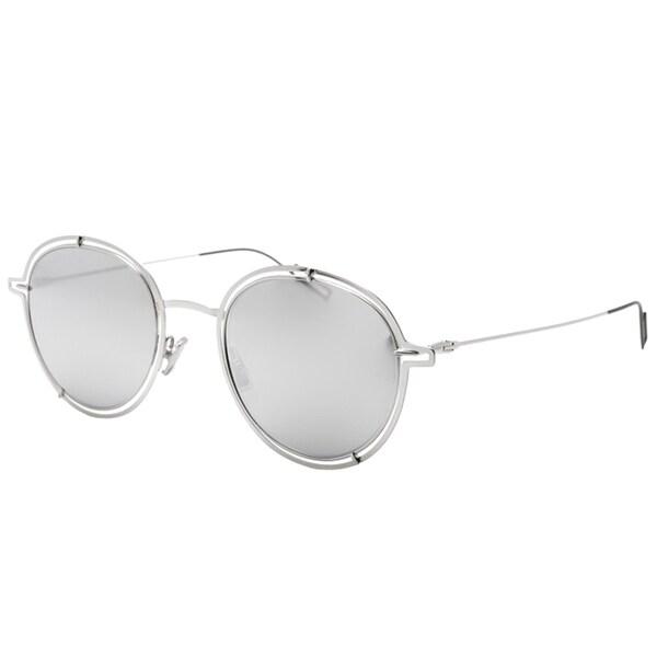 c2aa984a140 Dior Round Dior 0210 S 010 DC Unisex Palladium Frame Silver Mirror Lens  Sunglasses