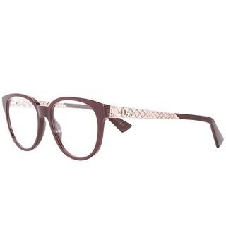 Dior Round Diorama 02 E63 Women Burgundy Pink Frame Eyeglasses