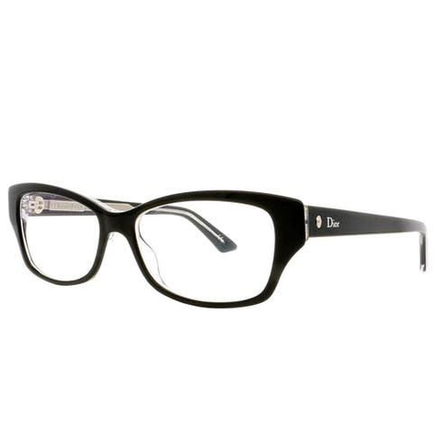Dior Rectangle Montaigne 10 G99 Women Black Crystal Frame Eyeglasses
