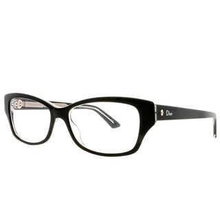 Dior Rectangle Montaigne 10 G99 Women Black Crystal Frame Eyeglasses