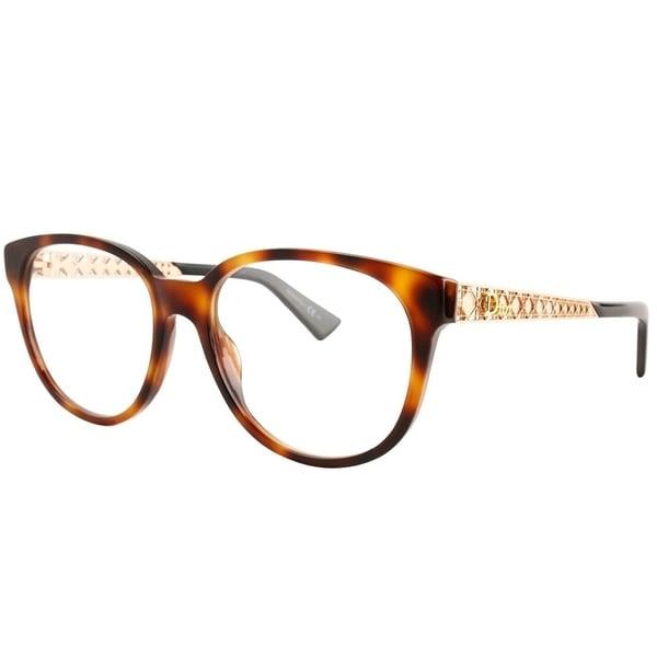 25c815f64d Shop Dior Round Diorama 02 DA0 Women Havana Gold Frame Eyeglasses ...