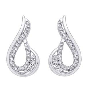 10k White Gold 1/4ct TDW Diamond Fashion Earrings (J-K, I1-I2)