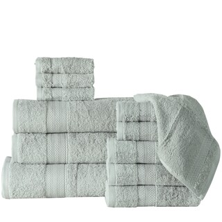 12-Piece Bath Towel Sets with Oversized Bath sheet