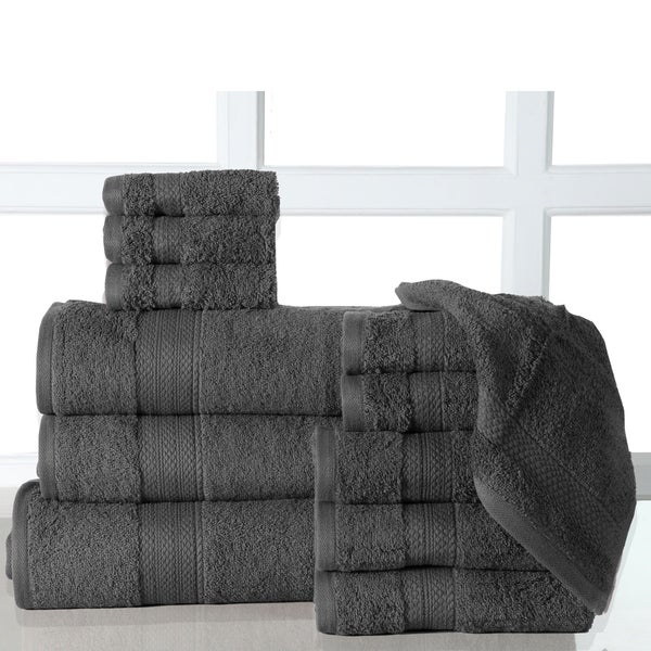 Shop 12-Piece Bath Towel Sets With Oversized Bath Sheet