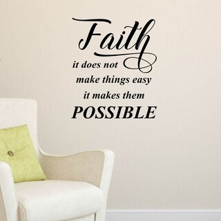 Faith, It Does Not Make Inspirational Vinyl Matte Finish Wall Decal (5 options available)