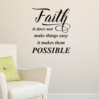 Faith, It Does Not Make Inspirational Vinyl Matte Finish Wall Decal