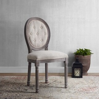 Arise Vintage French Upholstered Fabric Dining Side Chair